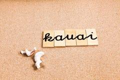 Wörter auf Sand Kauai lizenzfreie abbildung