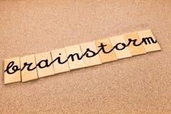 Wörter auf Sandgeistesblitz lizenzfreies stockfoto