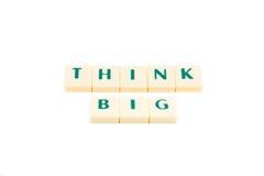 Wörter denken großes Lizenzfreie Stockfotos