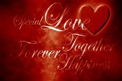 Wörter der Liebe Stockfotos