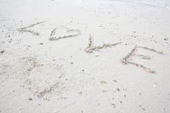 Wörter der Liebe Stockbild