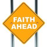Glaube voran Stockbild