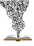 Wörter, die vom Buch kommen Lizenzfreie Stockfotografie