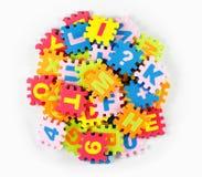 Wörter im Puzzlespiel Lizenzfreie Stockfotografie