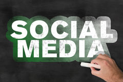 Wörter SOCIAL MEDIA auf Tafel Lizenzfreies Stockfoto