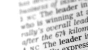 Wörterbuch-Definition - Führung stock video