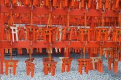Wünsche auf kleinen Torustoramuletten, Japan stockfoto