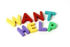 Wünschen Sie Hilfe Lizenzfreies Stockfoto
