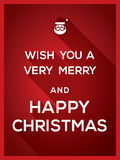 Wünschen Sie Ihnen einen sehr fröhlichen und glücklichen Typografie-Weihnachtshintergrund vektor abbildung