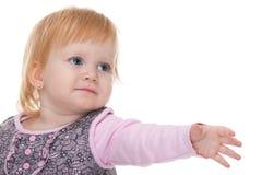 Wünschendes blondes Kleinkind Lizenzfreie Stockbilder