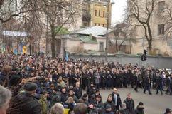 Würde März in der ukrainischen Hauptstadt Lizenzfreies Stockbild