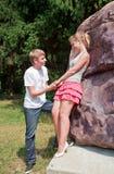 Würden Sie mich heiraten? Stockfoto