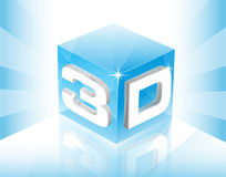 Würfel 3D lizenzfreie abbildung