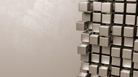 Würfel-Anhäufung auf Grey Background lizenzfreie abbildung
