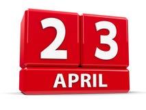 Würfel am 23. April Lizenzfreie Stockfotos