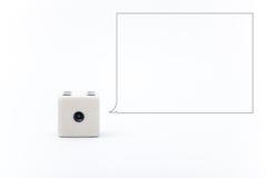 Würfel auf dem weißen Hintergrund Stockfotos