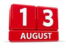 Würfel am 13. August Lizenzfreie Stockfotos