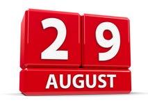 Würfel am 29. August Lizenzfreie Stockfotografie