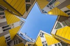 Würfel bringt Rotterdam Blom unter Stockfoto