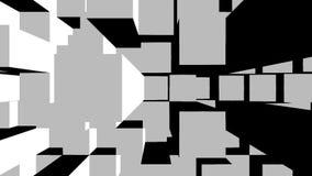 Würfel 3d blockiert Geometriezusammenfassung stock abbildung