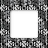 Würfel 3D Zig Zag, Vektor-Rahmen-Fahne stock abbildung