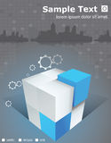 Würfel der Skyline-Broschüre 3D Lizenzfreie Stockbilder