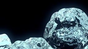 Würfel des Eises 3D stockfotos