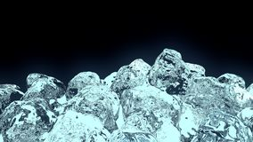 Würfel des Eises 3D lizenzfreie stockbilder