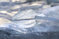 Würfel des natürlichen Eises Stockfotos