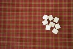 Würfel des raffinierten Zuckers Kopieren Sie Platz Beschneidungspfad eingeschlossen Lizenzfreie Stockfotografie