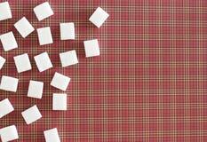 Würfel des raffinierten Zuckers Kopieren Sie Platz Beschneidungspfad eingeschlossen Lizenzfreie Stockbilder