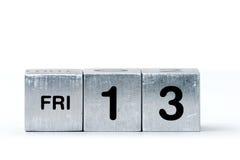 Würfel FRI-13 Stockfotos