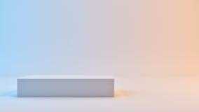 Würfel im blauen und roten Fotostudio Lizenzfreies Stockfoto
