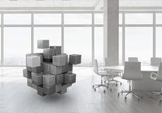 Würfel im modernen Büro Gemischte Medien Stockbild