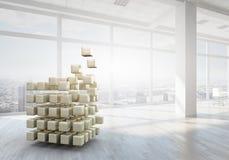 Würfel im modernen Büro Gemischte Medien Lizenzfreie Stockbilder