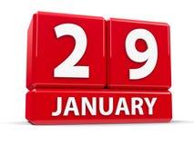 Würfel am 29. Januar Lizenzfreie Stockbilder