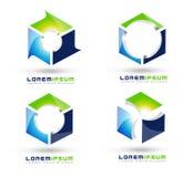 Würfel-Logo Lizenzfreie Stockfotos