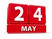 Würfel am 24. Mai Lizenzfreies Stockfoto
