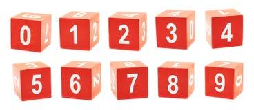 Würfel mit spielen Zahlen Lizenzfreies Stockbild