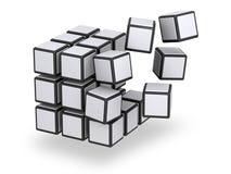 Würfel montierend oder disassembliert Stockfotografie