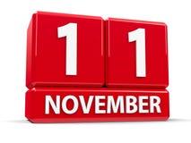 Würfel am 11. November Stockfoto