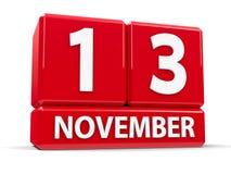Würfel am 13. November Stockbilder