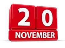 Würfel am 20. November Lizenzfreies Stockbild