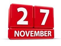Würfel am 27. November Stockfotos