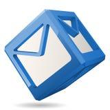 Würfel-Post-Ikone, Vektor-Illustration Lizenzfreies Stockfoto
