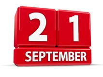 Würfel am 21. September Lizenzfreies Stockbild