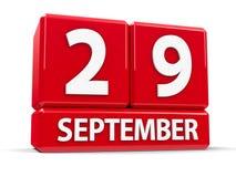 Würfel am 29. September Lizenzfreies Stockbild