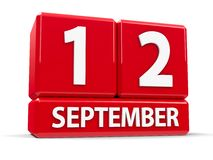 Würfel am 12. September lizenzfreie abbildung