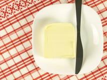 Würfel von Butter Stockfoto