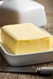 Würfel von Butter Stockfotografie
